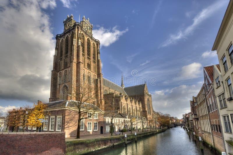 Catedral de Dordrecht imagens de stock royalty free