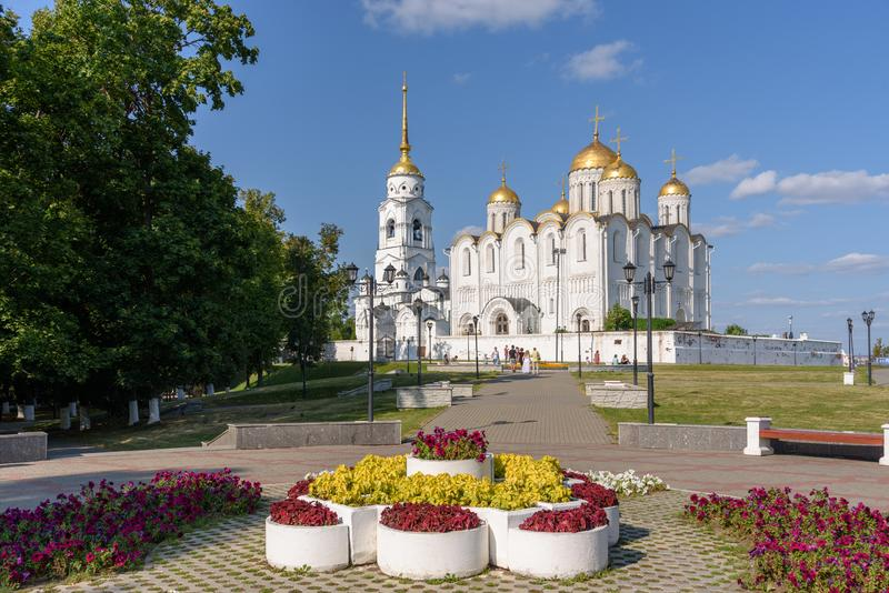 Catedral de Dormition da catedral da suposi??o aka - o templo principal da cidade de Vladimir - R?ssia fotos de stock royalty free