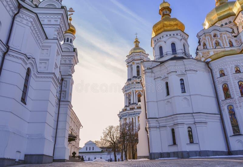 Catedral de Dormition de Kiev Pechersk Lavra Christian Monastery, fotos de stock royalty free