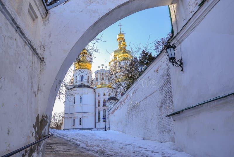 Catedral de Dormition de Kiev Pechersk Lavra Christian Monastery imagens de stock royalty free
