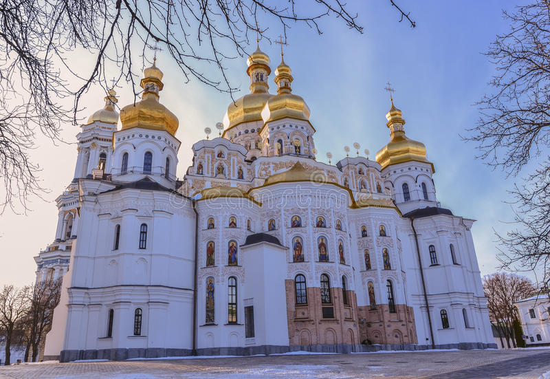Catedral de Dormition de Kiev Pechersk Lavra Monastery foto de stock