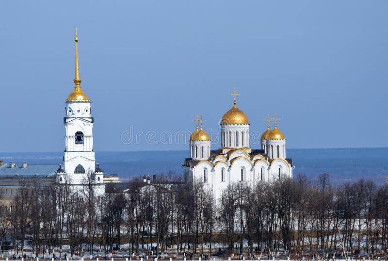 Catedral de Dormition en Vladimir en Rusia fotografía de archivo libre de regalías