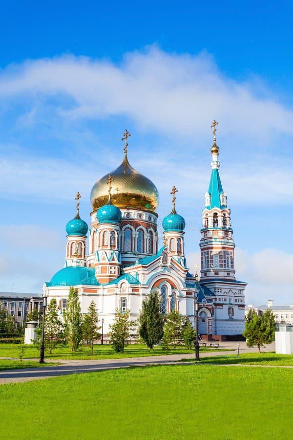 A catedral de Dormition, Omsk fotografia de stock royalty free