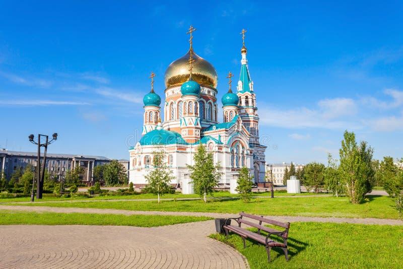 A catedral de Dormition, Omsk imagem de stock