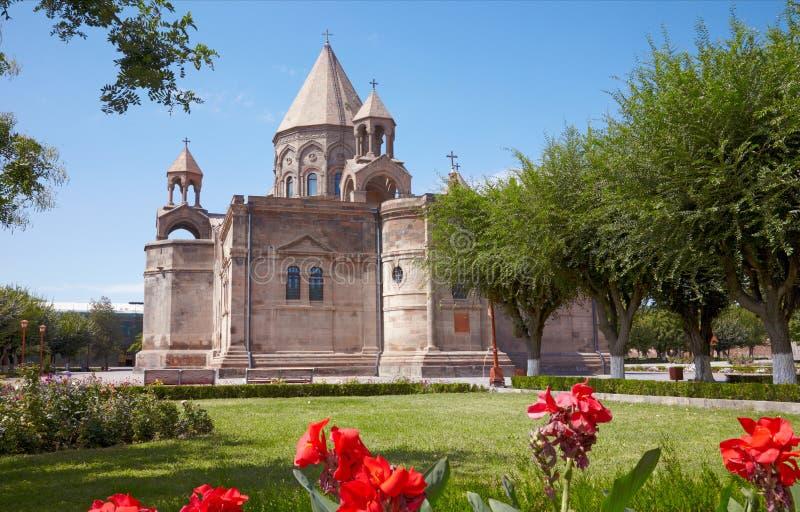 Catedral de Echmiadzin. Arménia imagem de stock