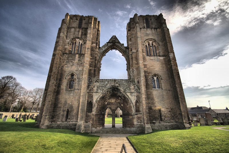 Catedral de Elgin - HDR fotografía de archivo libre de regalías