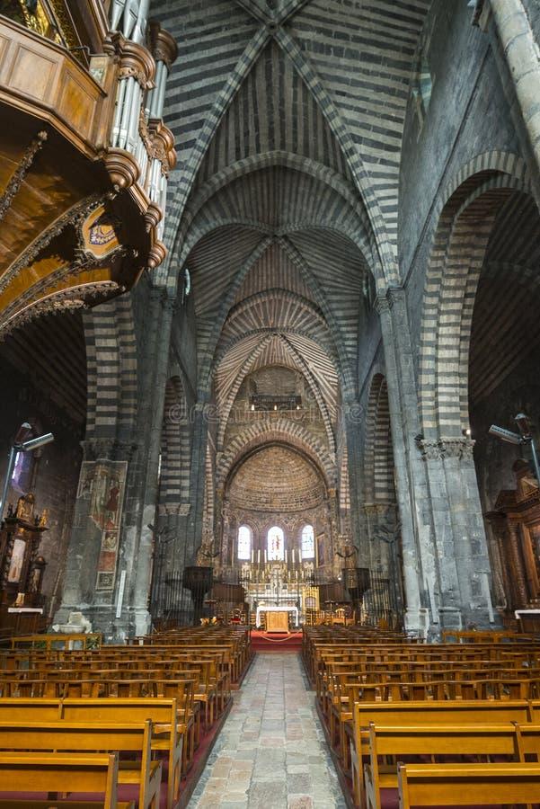 Catedral De Embrun, Interior Imágenes de archivo libres de regalías