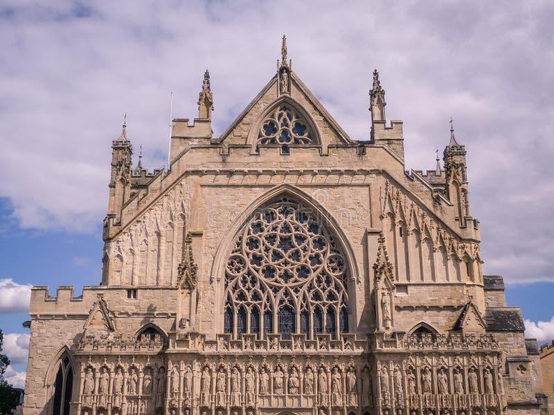 Catedral de Exeter, Devon, Inglaterra, Reino Unido foto de stock royalty free