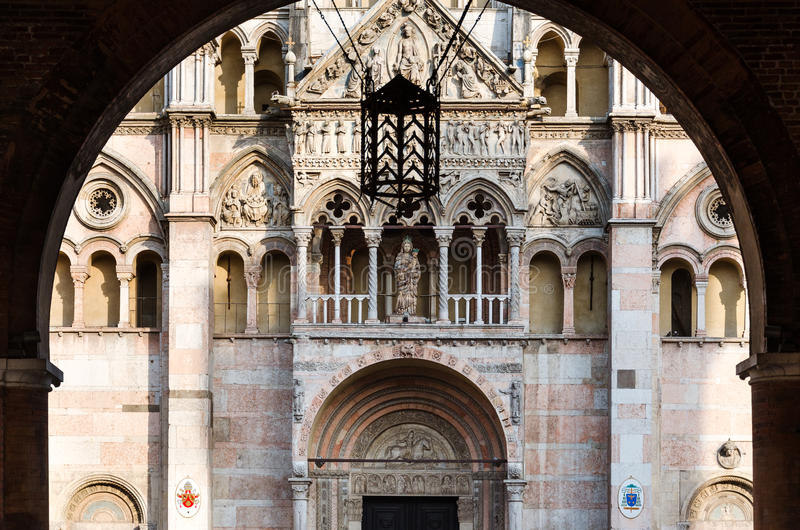 Catedral de Ferrara imagen de archivo