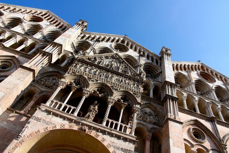 Catedral de Ferrara em Italy imagem de stock royalty free