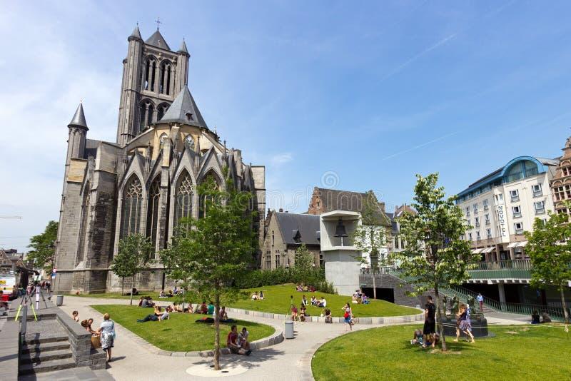 Catedral de Gante imagen de archivo