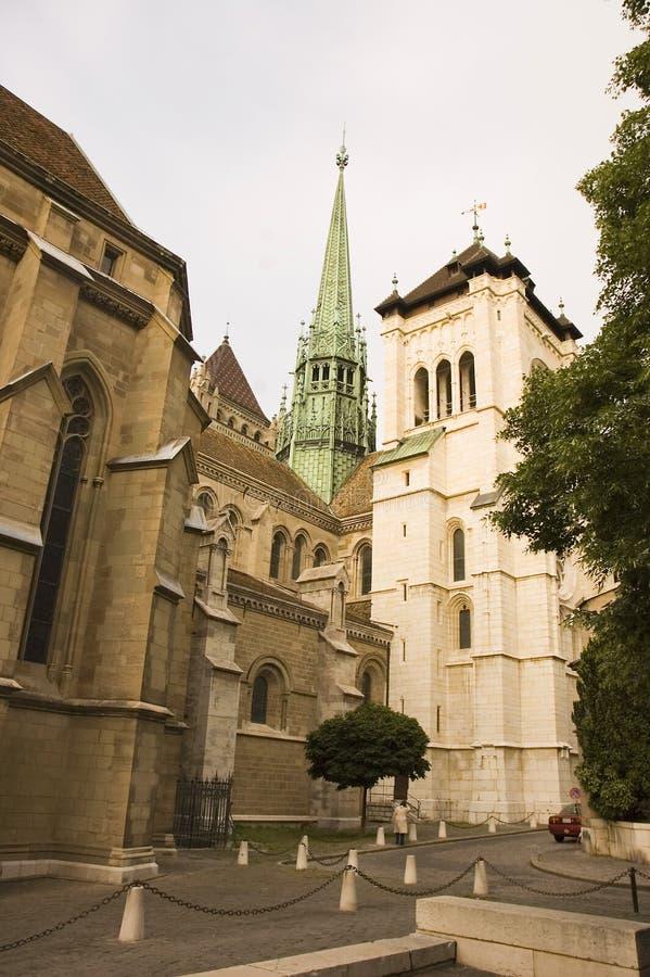 Catedral de Genebra imagens de stock royalty free