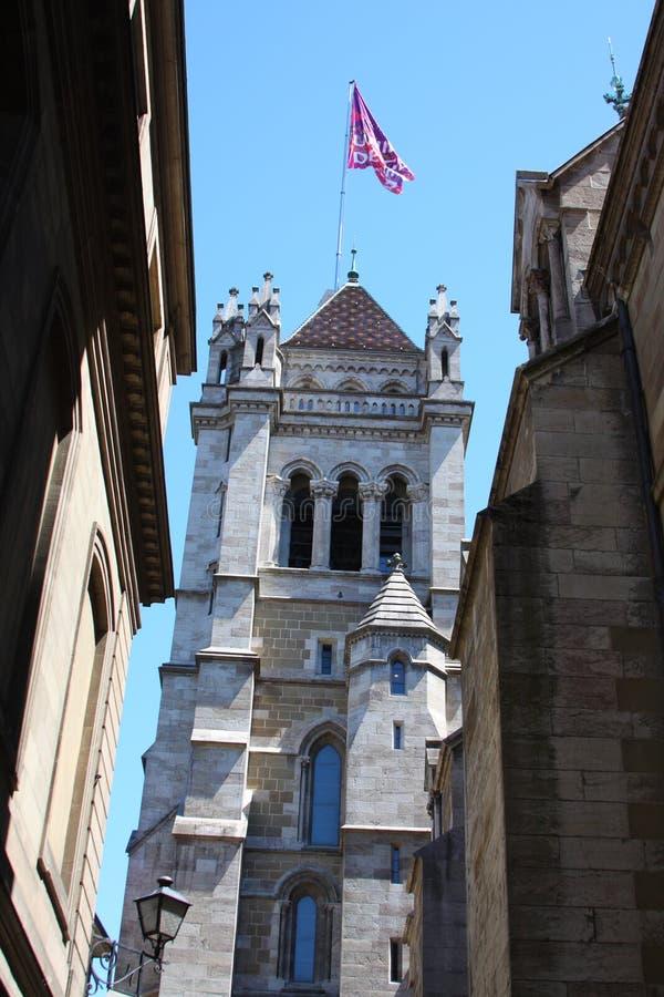 Catedral de Genebra imagem de stock