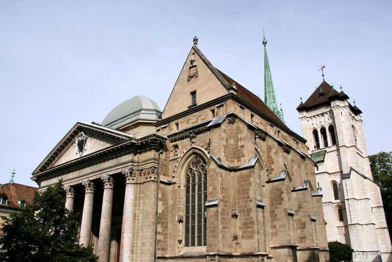 Catedral de Ginebra fotos de archivo libres de regalías