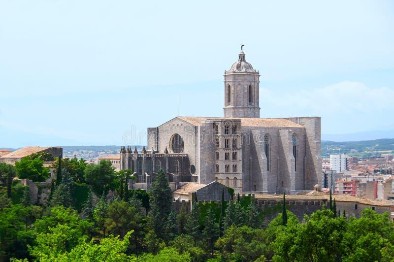 Catedral de Girona. Spain fotografia de stock royalty free