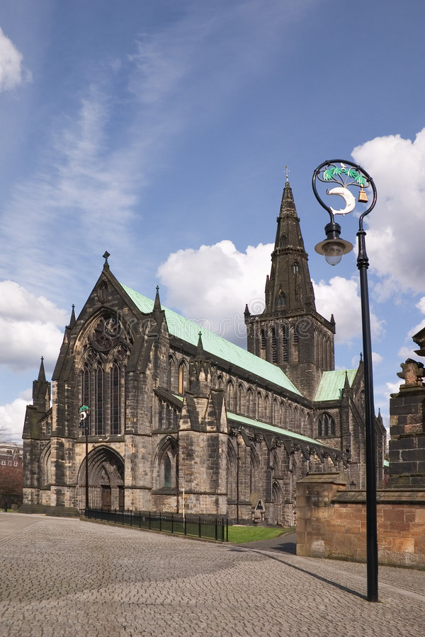 Catedral de Glasgoew foto de archivo