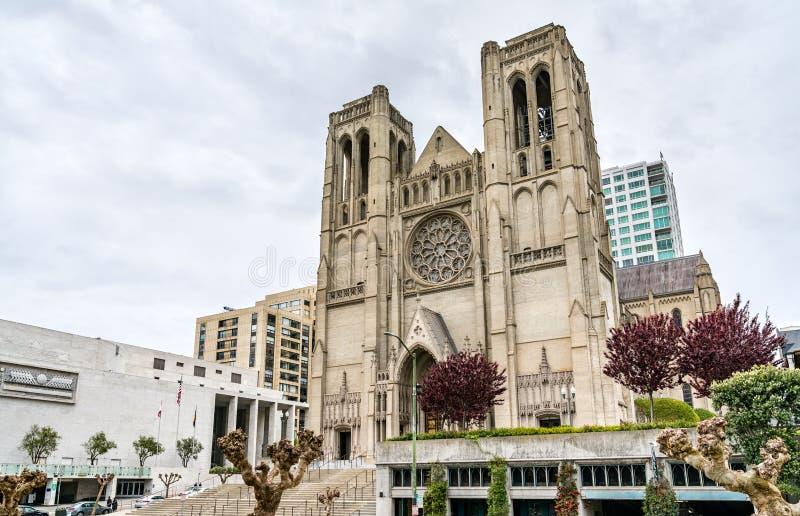 Catedral de Grace em São Francisco, Califórnia imagens de stock