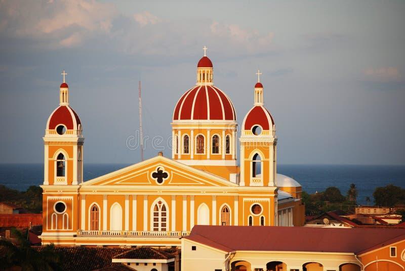 Catedral de Granada, Nicarágua foto de stock royalty free