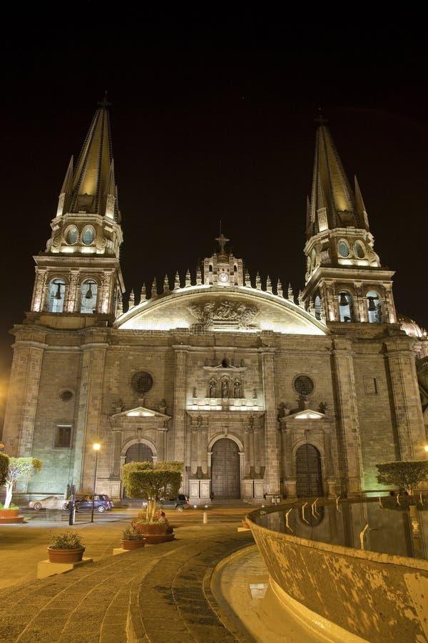 Catedral de Guadalajara em México fotografia de stock