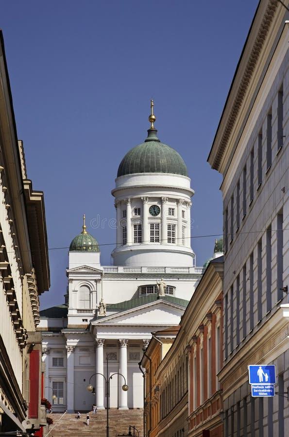 Catedral de Helsinki en cuadrado del senado finlandia imagen de archivo libre de regalías