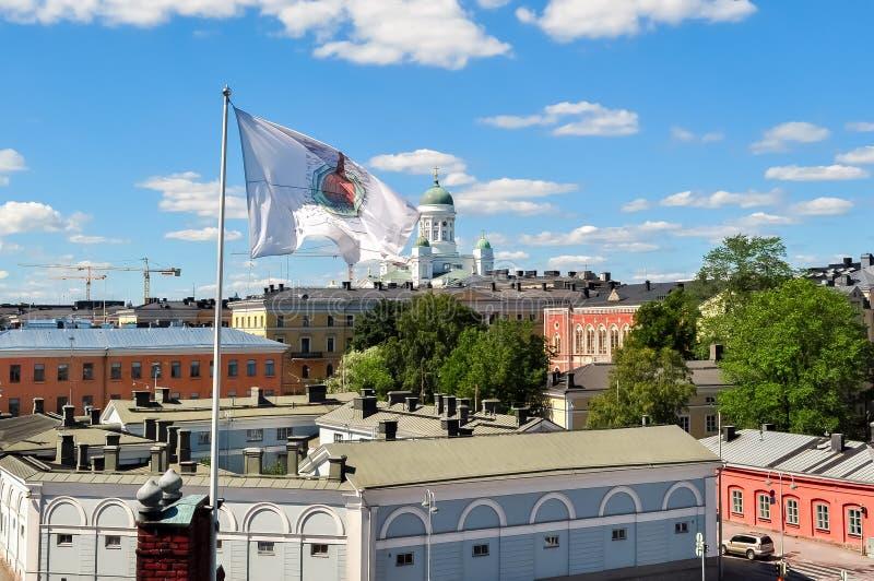 Catedral de Helsinki en el cuadrado del senado, Finlandia imagen de archivo libre de regalías
