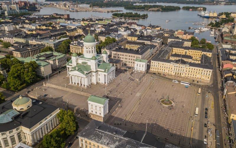 Catedral de Helsinki y cuadrado del senado imágenes de archivo libres de regalías