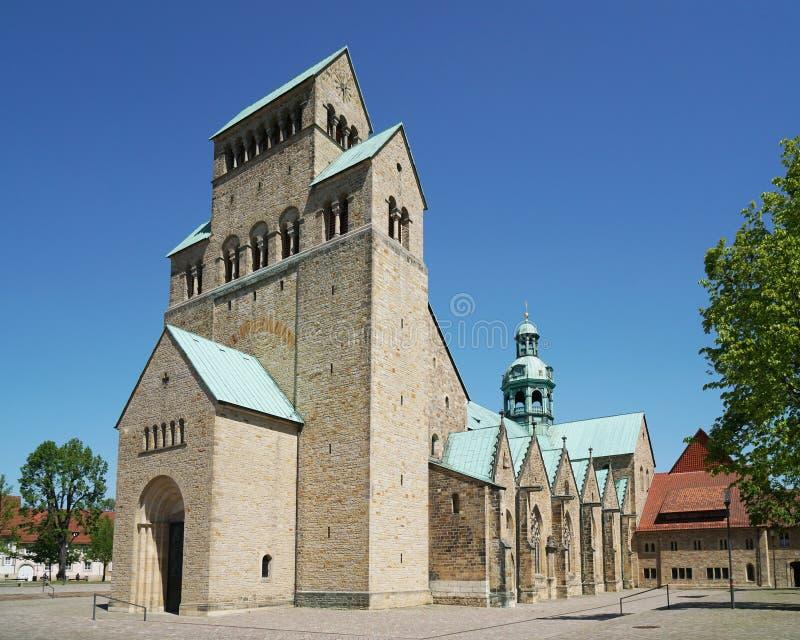 Catedral de Hildesheim em Alemanha imagem de stock royalty free