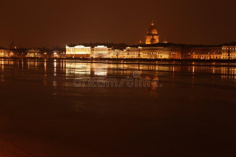 A catedral de Isaac de Saint (St Petersburg) fotografia de stock