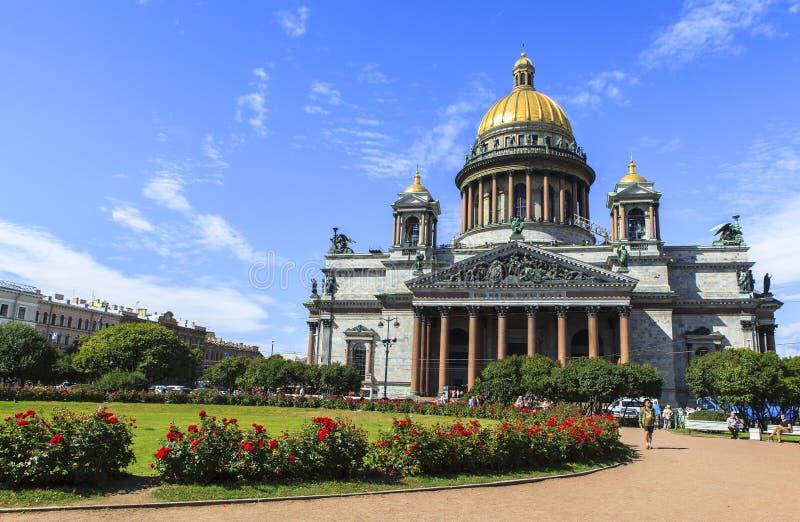 Catedral de Isaac del santo en St Petersburg imágenes de archivo libres de regalías