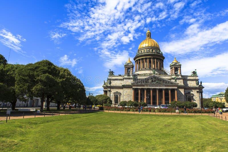 Catedral de Isaac del santo en St Petersburg fotografía de archivo libre de regalías