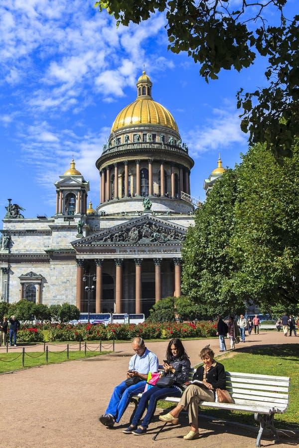Catedral de Isaac del santo en St Petersburg imagen de archivo libre de regalías