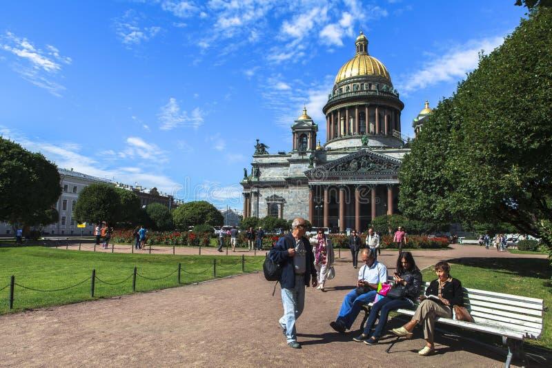 Catedral de Isaac del santo en St Petersburg fotografía de archivo