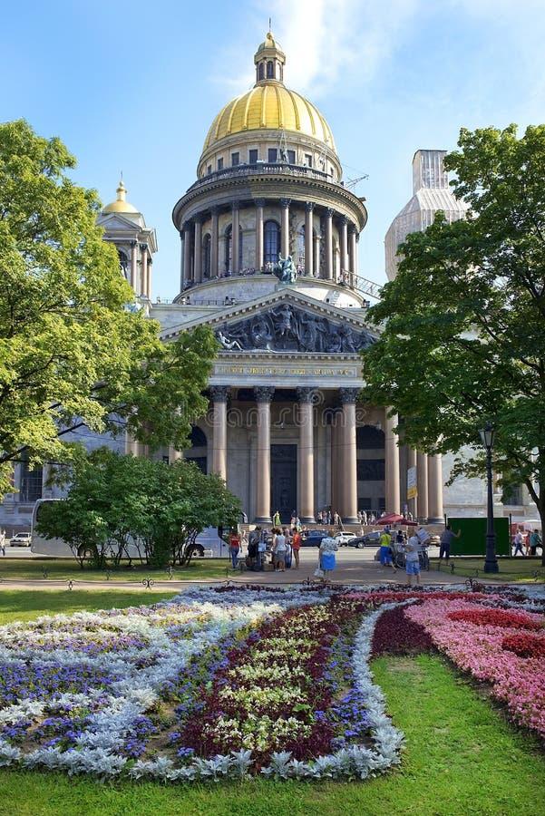 Catedral de Isaac del santo en St Petersburg, arquitecto Auguste de Montferrand fotos de archivo