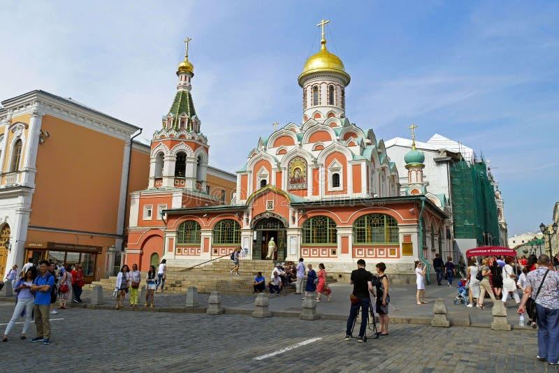 Catedral de Kazán en la esquina de la Plaza Roja Iglesia ortodoxa, en Moscú, Rusia imagen de archivo