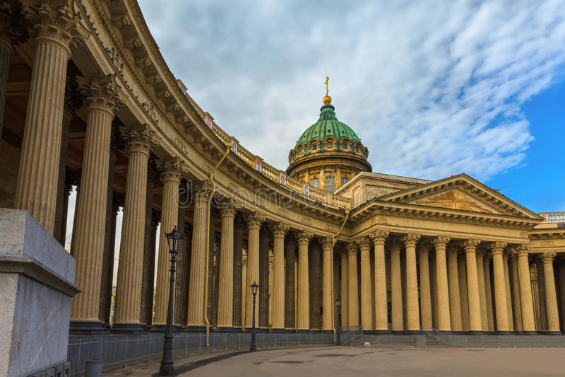 Catedral de Kazán, St Petersburg, Rusia fotografía de archivo libre de regalías