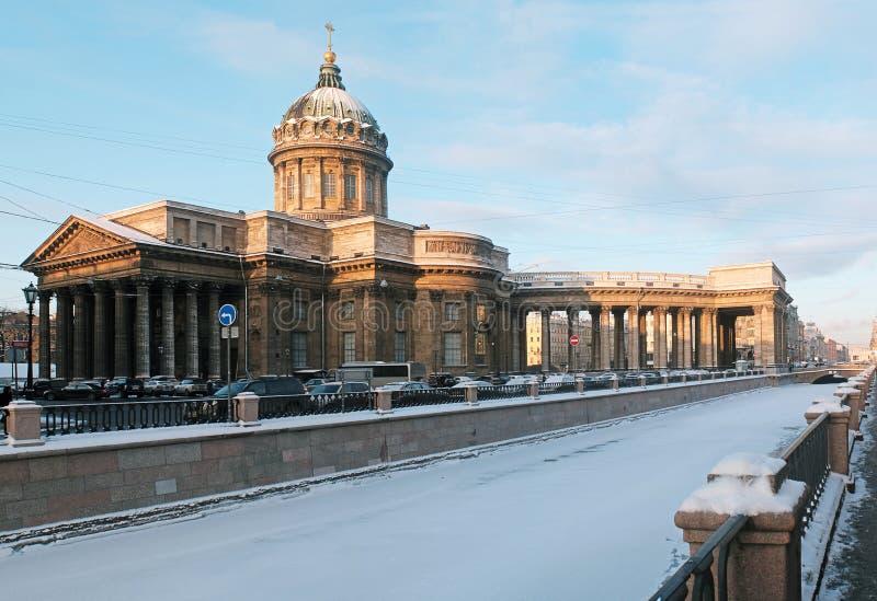 Catedral de Kazan em St Petersburg fotos de stock