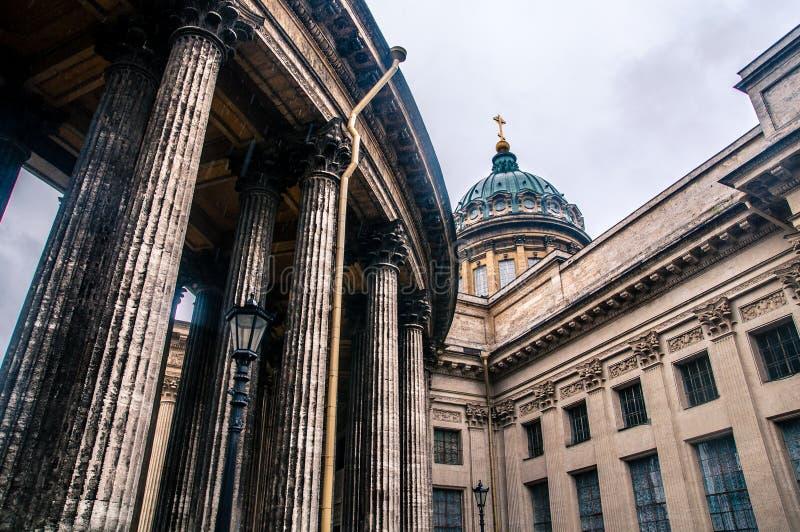 Catedral de Kazan em St Petersburg fotografia de stock royalty free
