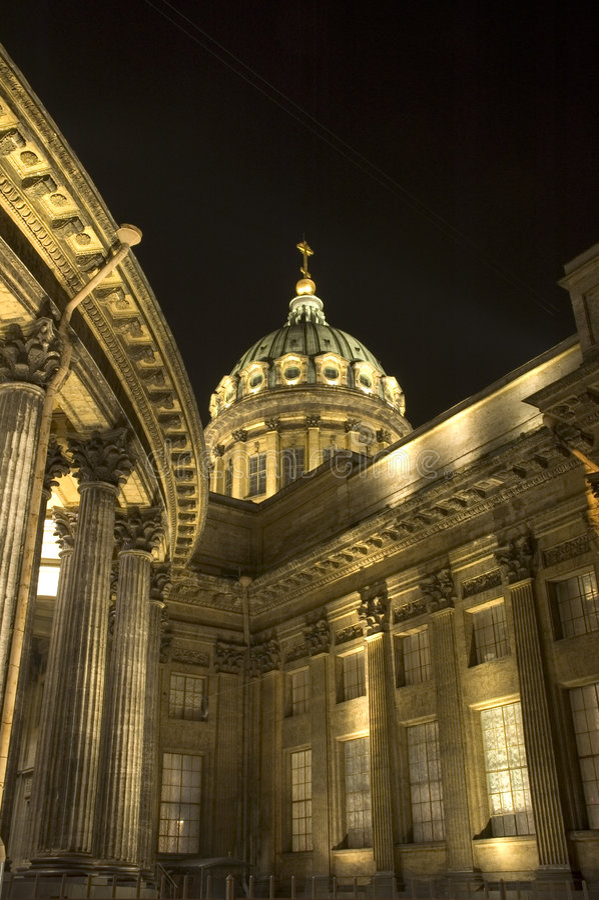 Catedral de Kazan em St Petersburg, Rússia fotografia de stock royalty free