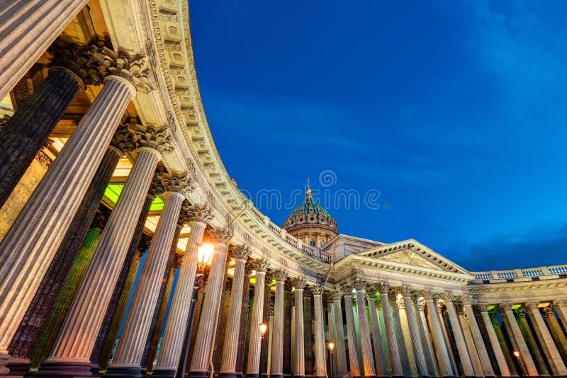 Catedral de Kazan em St Petersburg, Rússia fotografia de stock