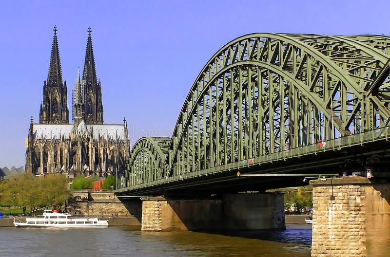 Catedral de Koeln imagens de stock
