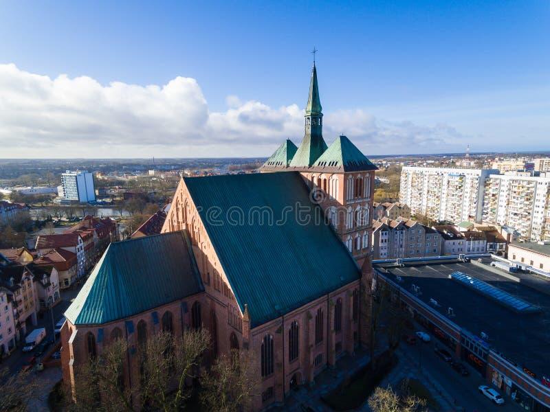 A catedral de Kolobrzeg imagens de stock