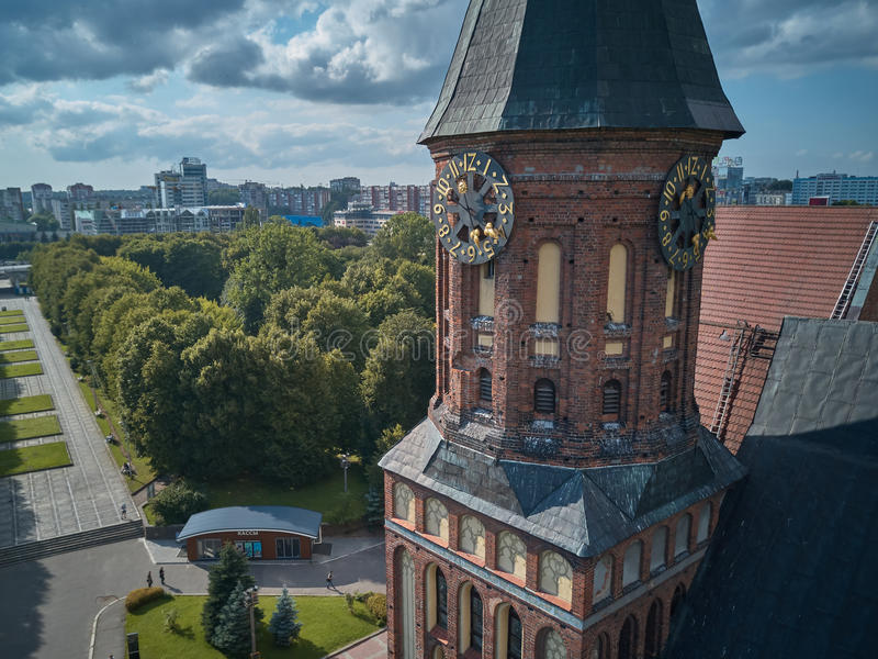 Catedral de Konigsberg Kaliningrado, antes Koenigsberg, Rusia fotografía de archivo libre de regalías
