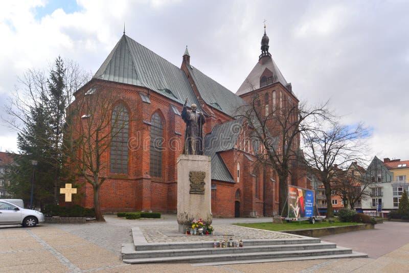 Catedral de Koszalin fotografia de stock