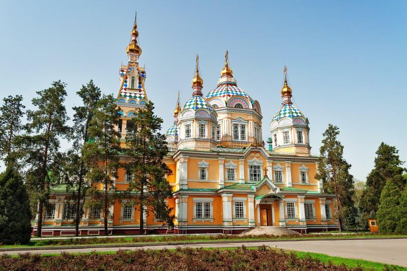 Catedral de la ascensión en Almaty imagen de archivo libre de regalías