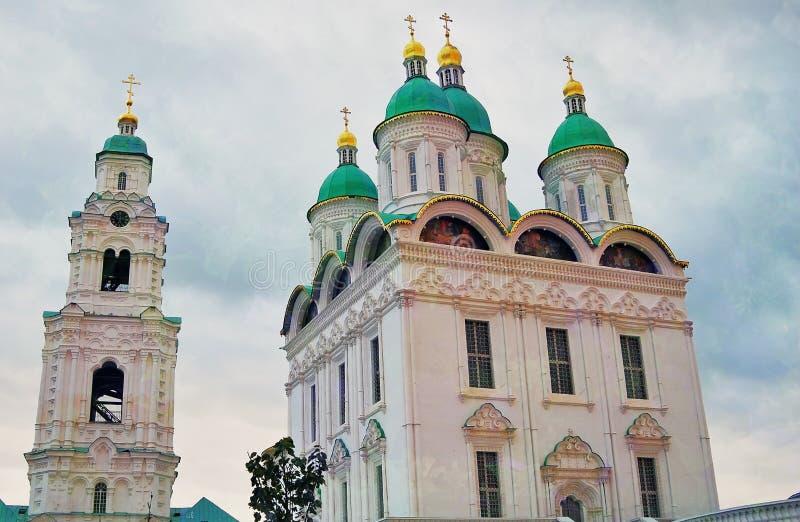 Catedral de la asunción El Kremlin en Astrakhan, Rusia Foto de color fotografía de archivo