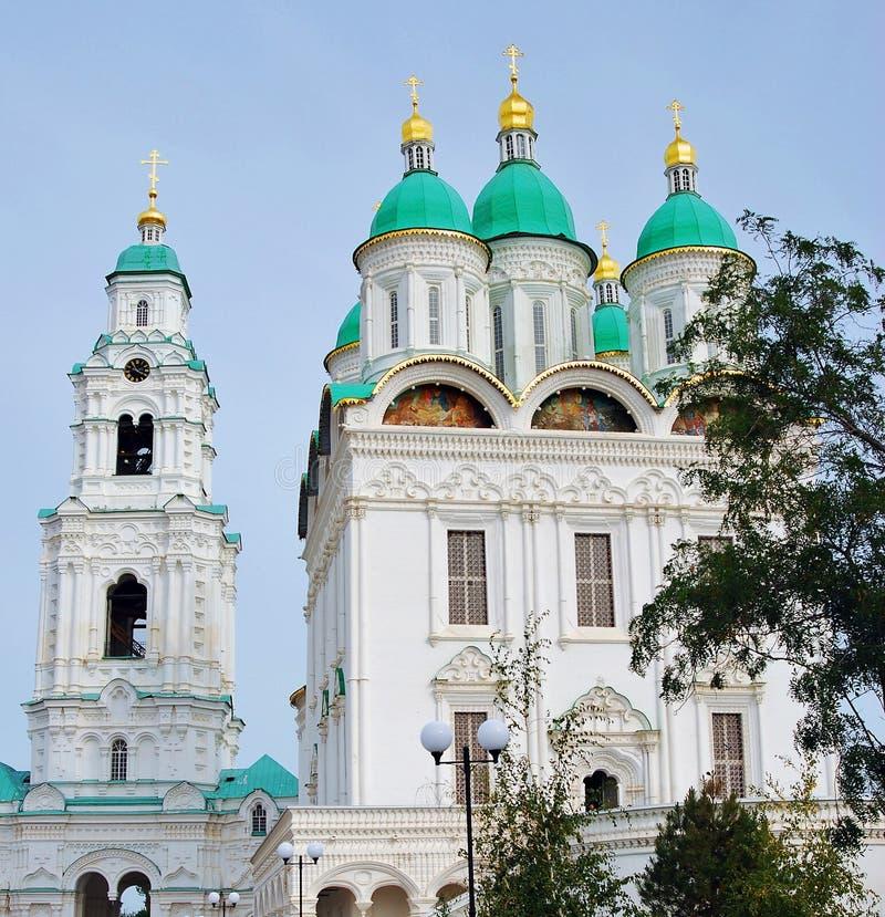 Catedral de la asunción El Kremlin en Astrakhan, Rusia Foto de color foto de archivo