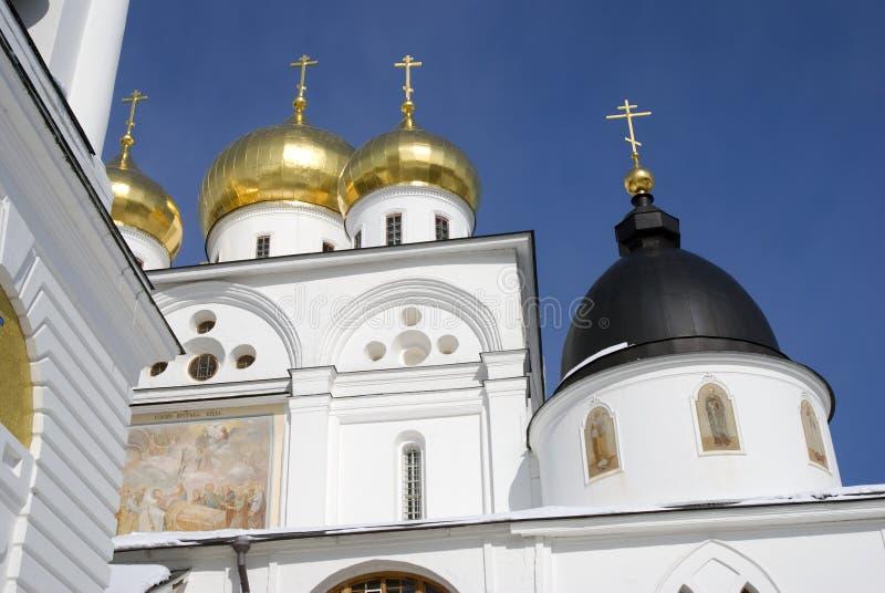 Catedral de la asunción El Kremlin en Dmitrov, ciudad antigua en la región de Moscú imagen de archivo libre de regalías