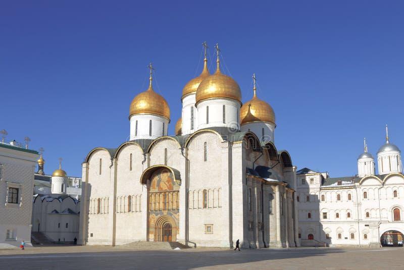 Catedral de la asunción en Moscú fotografía de archivo libre de regalías