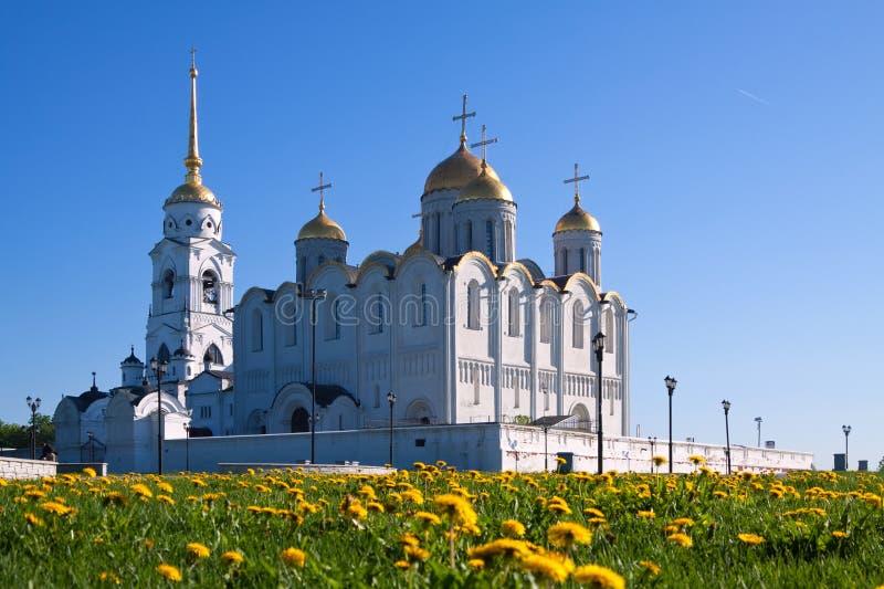 Catedral de la asunción en Vladimir imagen de archivo libre de regalías