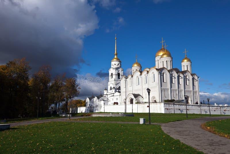 Catedral de la asunción en Vladimir fotografía de archivo libre de regalías